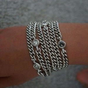 Uno De 50 Silver Crystal UNDER THE SEA Bracelet